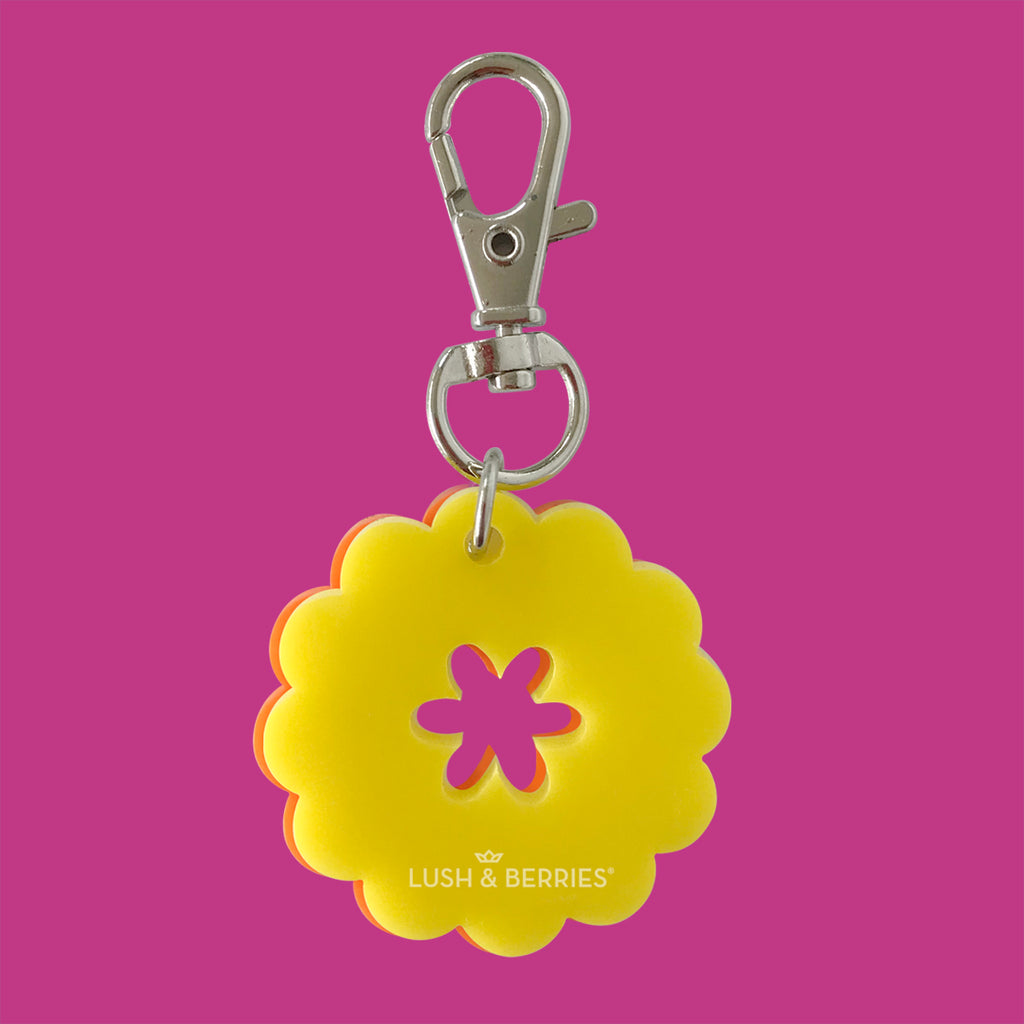 Mini Charm: Flor (doble vista)