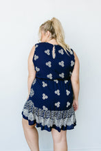 Triple Threat Mini Dress In Navy