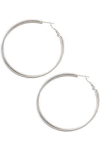Double Twist Hoop Earrings