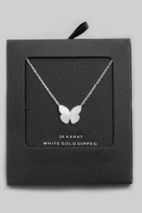 Gold Dipped Butterfly Pendant Necklace