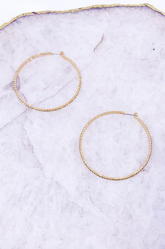 Gold Diamond Hoops (Sm)