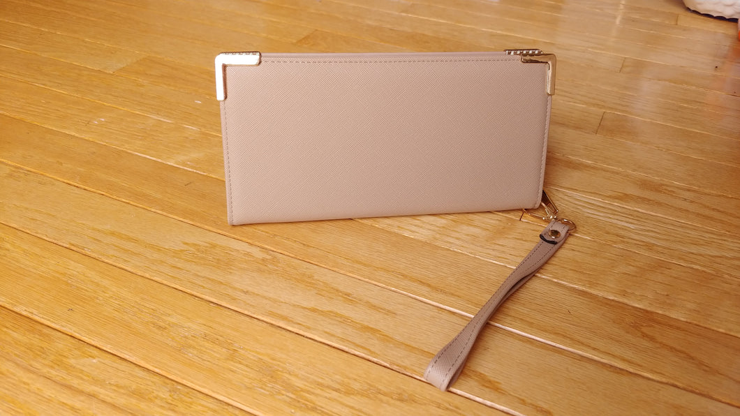 ZIP TOP WALLET/WRISTLET (VEGAN FRIENDLY)