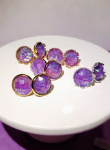 Iridescent Purple Studs