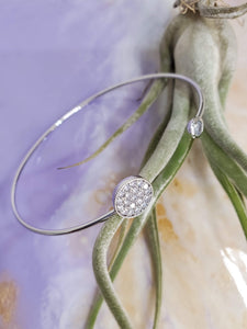 Double Pavé Circle Bangle
