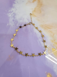 Gold Star Chain Bracelet