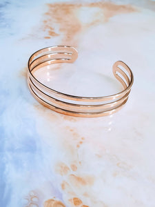 Rose Gold Bar Cuff Bracelet