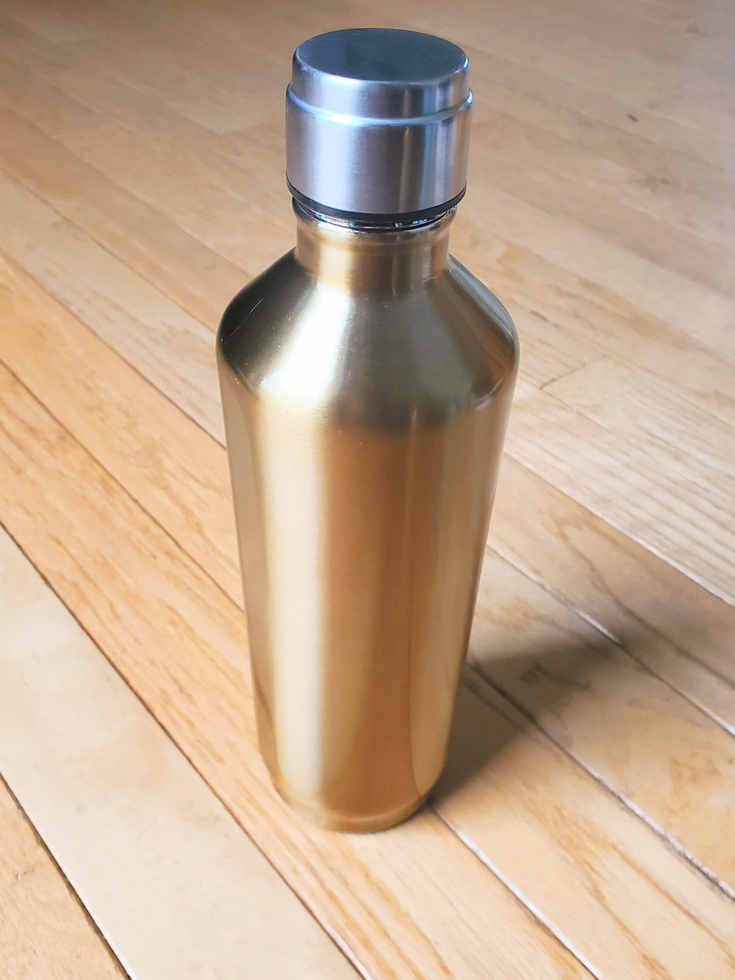 Gold + Silver Stainless Steel Water Tumbler