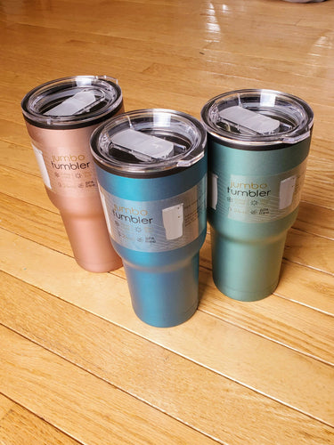 Matte Metallic Double Wall Tumbler