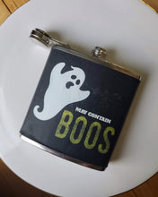 """May Contain Boos"" Flask"