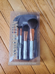 Cosmetic Brush Set w/ Pouch