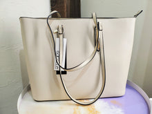 Beige Fashion Shopper w/ Wallet Clutch