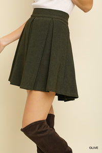 Mindy A-Line Pleated Skirt
