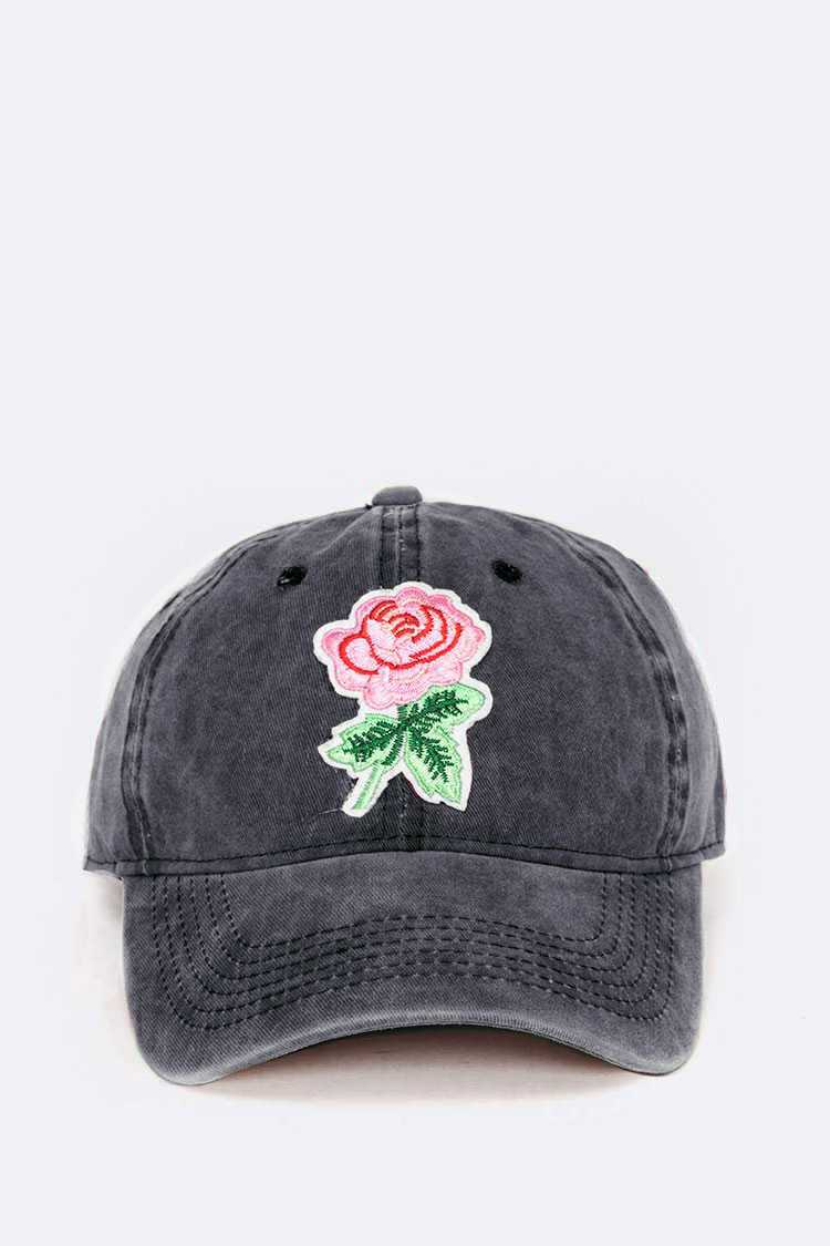 Charcoal Rose Patch Cap