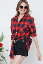 Red + Navy Buffalo Plaid Flannel