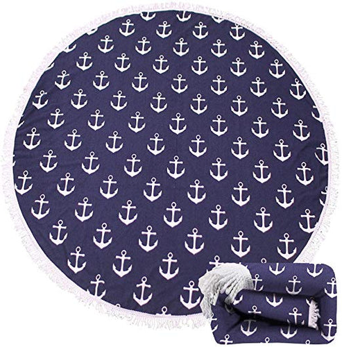 Round Beach Towel (Anchor)