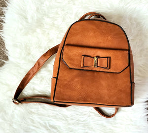 Brown Satchel Bow Backpack