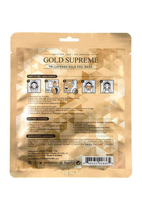 Tri-Layered Gold Foil Face Mask