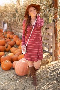 Cinnamon Striped Dress