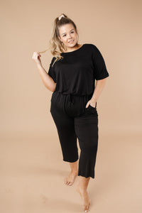 Girl Next Door Jumpsuit In Black