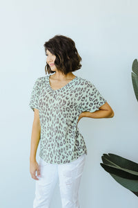 Leap Of Faith V-Neck In Mint