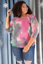 Leslie Ladder Sleeve Top in Fuschia