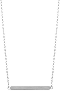 Brushed Metal Dainty Bar Necklace