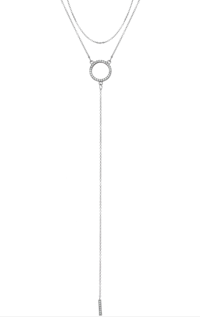 Lariat Circle Necklace