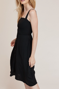 Lydia Midi Dress in Black