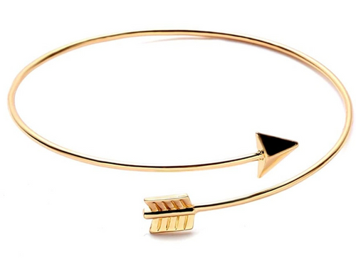 Wrapped in Gold Arrow Bracelet