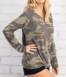 Shannon Camo Lounge Top