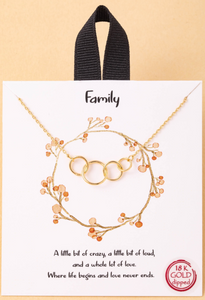 Circles of Life Necklace in Gold