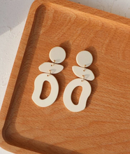 Irregular Geo Drop Earrings in Eggshell