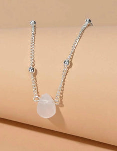 Stone, Ball + Chain Necklace