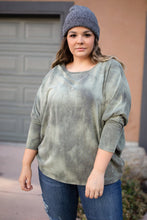 Slouchy Sleeve Top in Olive