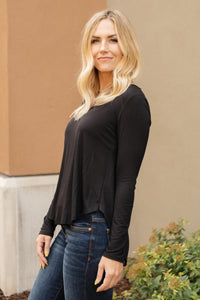 The Wendi Top in Ebony