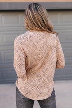 Wrapped With Spots Top in Taupe