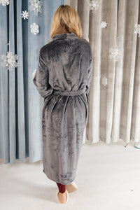 You Time Robe in Charcoal