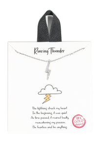 Diamond Lightning Charm Necklace