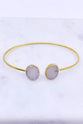 Natural Quartz Crystal Cuff Bracelet