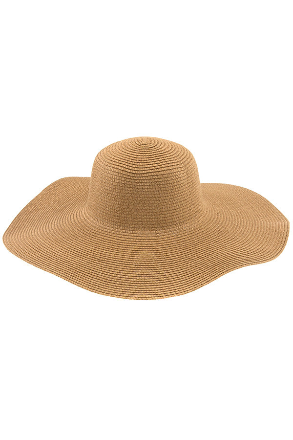 Floppy Straw Sun Hat in Khaki