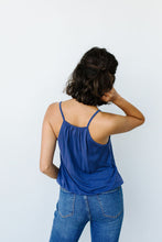 Charlize Surplice Tank In Blue