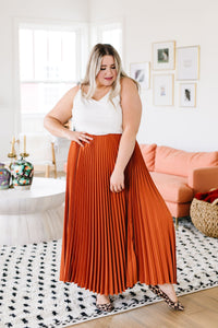 Pleats To Meet Ya Maxi Skirt