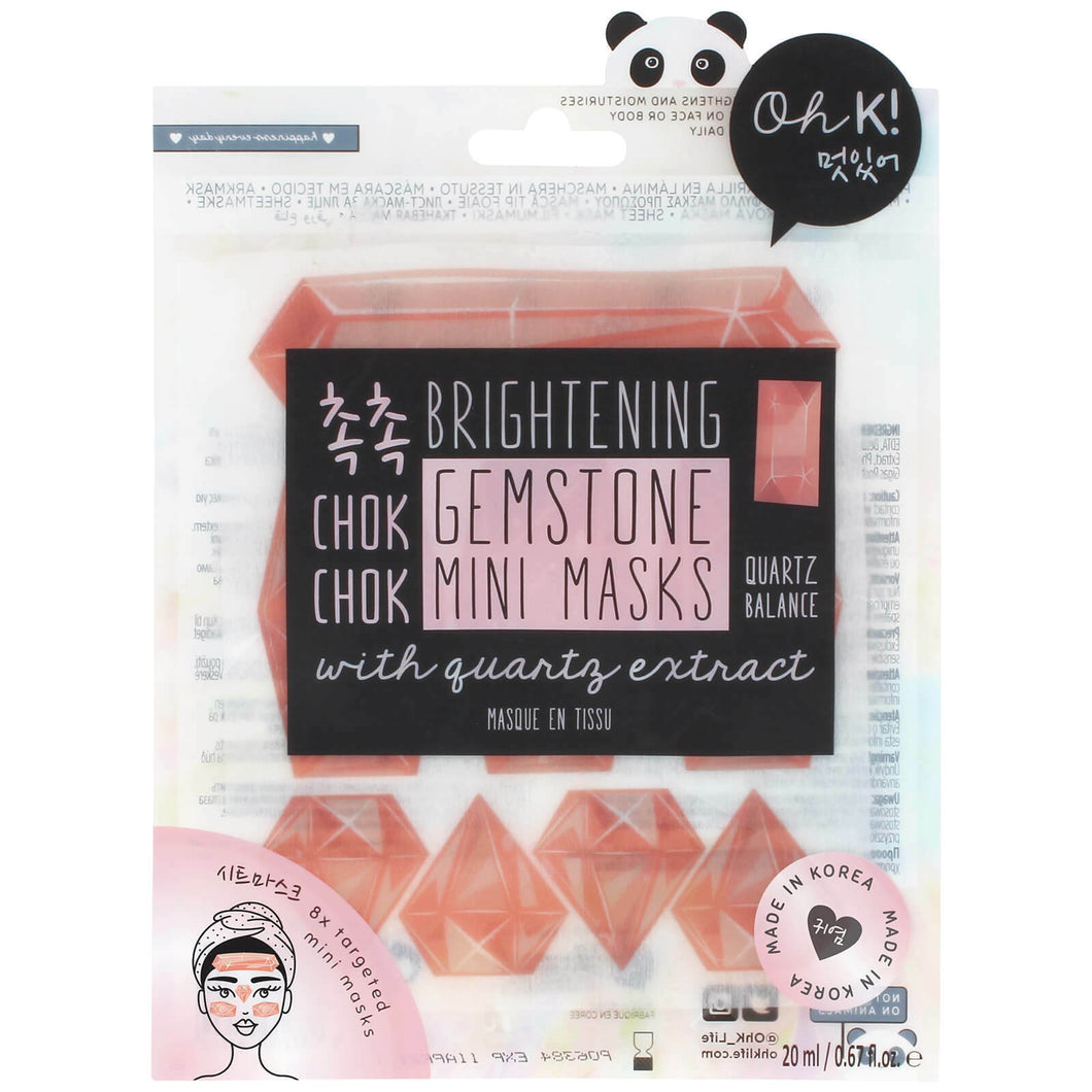Gemstone Mini Masks w/ Quartz Extract