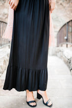Versatile Elegance Black Maxi Dress