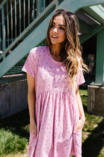 Wee Floral Babydoll Dress In Pink