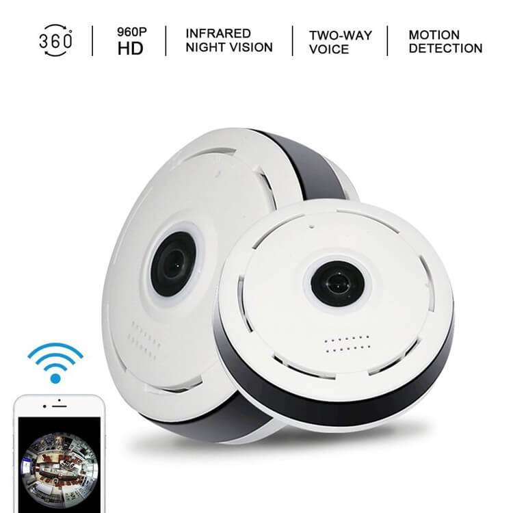 Panoramic CCTV Camera - View Your House Using Wifi