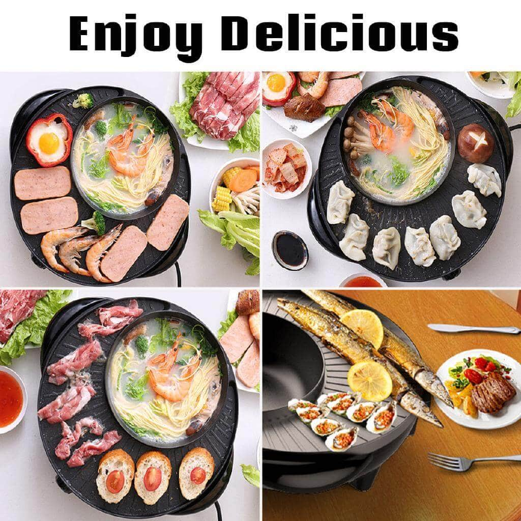 Multi-Function Electric Korean Pot Baking Pan Hot Pot & Grill