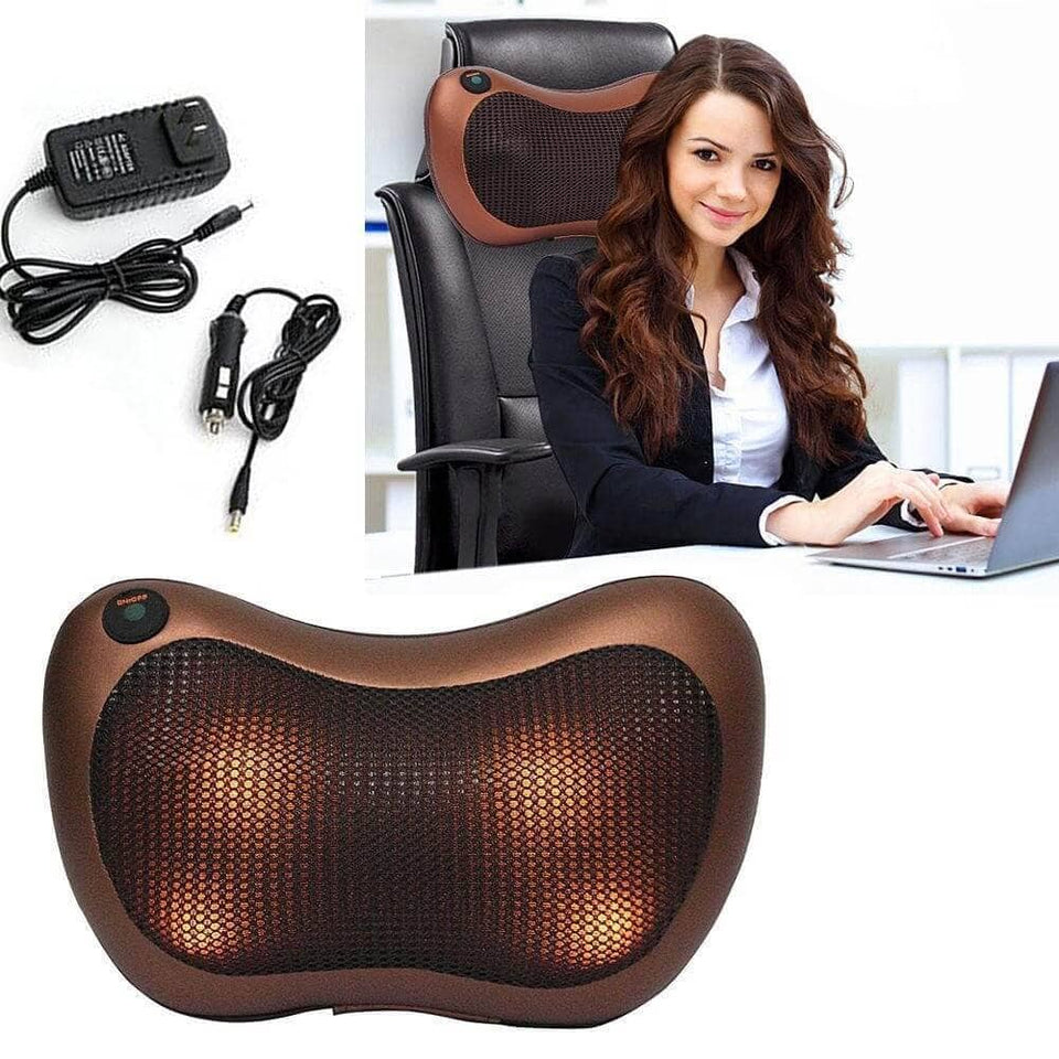 Car Headrest and Home Use Kneading Shiatsu Massage Pillow