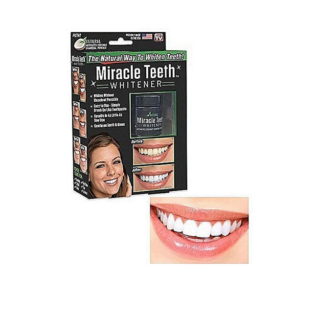 Poudre de Blanchiment Dents original en charbon miracle teeth