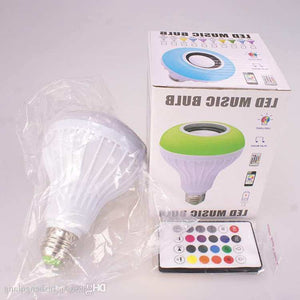 Ampoule LED Multicolore et Haut-parleur Bluetooth 2en1